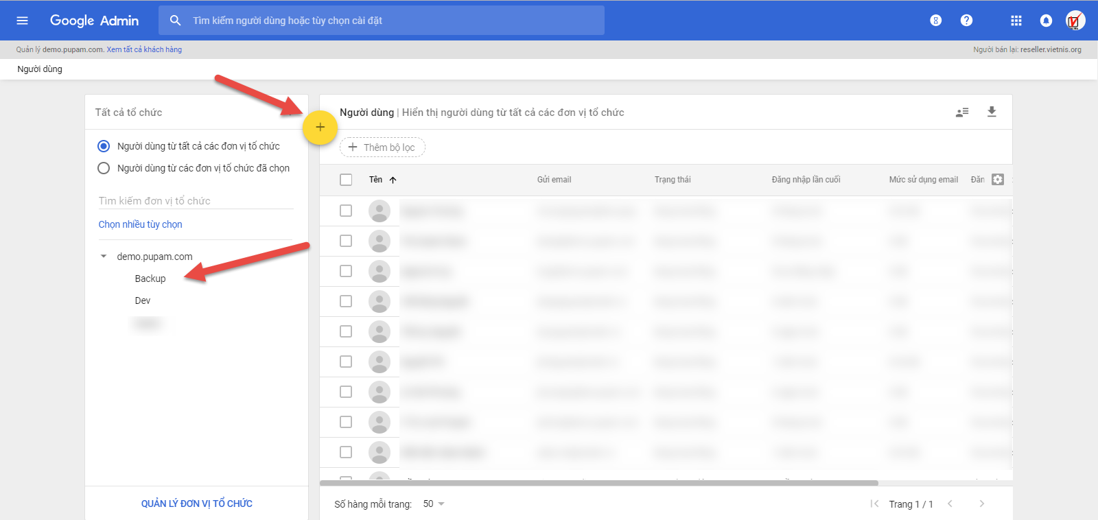 Thêm mới user G Suite từ Admin Console